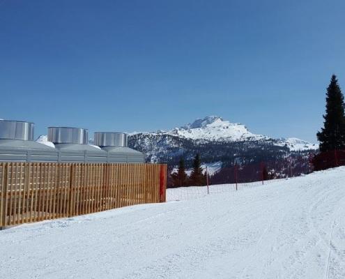 Kjøletårn for bruk i snøproduksjon