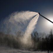 Viking snø-lanse i aksjon